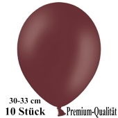 Premium Luftballons aus Latex, 30 cm - 33 cm, burgund, 10 Stück