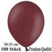 Premium Luftballons aus Latex, 30 cm - 33 cm, burgund, 100 Stück