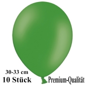 Premium Luftballons aus Latex, 30 cm - 33 cm, dunkelgrün, 10 Stück