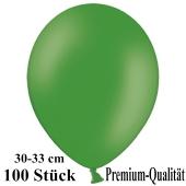 Premium Luftballons aus Latex, 30 cm - 33 cm, dunkelgrün, 100 Stück