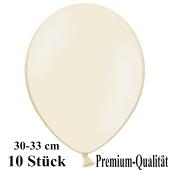 Premium Luftballons aus Latex, 30 cm - 33 cm, elfenbein, 10 Stück