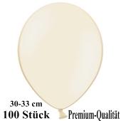 Premium Luftballons aus Latex, 30 cm - 33 cm, elfenbein, 100 Stück
