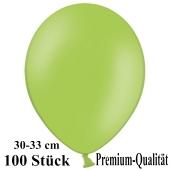 Premium Luftballons aus Latex, 30 cm - 33 cm, hellgrün, 100 Stück