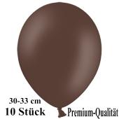 Premium Luftballons aus Latex, 30 cm - 33 cm, kakaobraun, 10 Stück