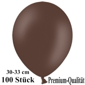Premium Luftballons aus Latex, 30 cm - 33 cm, kakaobraun, 100 Stück