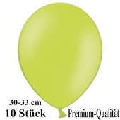 Premium Luftballons aus Latex, 30 cm - 33 cm, limonengrün, 10 Stück