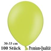 Premium Luftballons aus Latex, 30 cm - 33 cm, limonengrün, 100 Stück