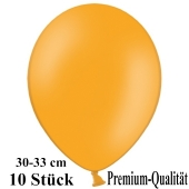 Premium Luftballons aus Latex, 30 cm - 33 cm, mandarin-orange, 10 Stück