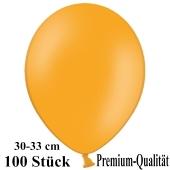 Premium Luftballons aus Latex, 30 cm - 33 cm, mandarin-orange, 100 Stück