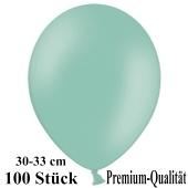 Premium Luftballons aus Latex, 30 cm - 33 cm, mintgrün, 100 Stück