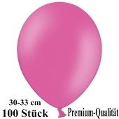 Premium Luftballons aus Latex, 30 cm - 33 cm, pink, 100 Stück