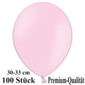 Premium Luftballons aus Latex, 30 cm - 33 cm, rosa, 100 Stück