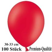 Premium Luftballons aus Latex, 30 cm - 33 cm, rot, 100 Stück