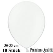 Premium Luftballons aus Latex, 30 cm - 33 cm, weiß, 10 Stück