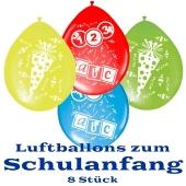 Luftballons zum Schulanfang, Latexballons
