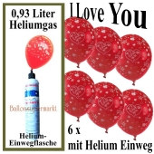 Luftballons Liebe Helium Set 06