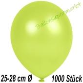 Metallic Luftballons in Apfelgrün, 25-28 cm, 1000 Stück
