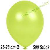 Metallic Luftballons in Apfelgrün, 25-28 cm, 500 Stück
