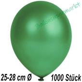 Metallic Luftballons in Dunkelgrün, 25-28 cm, 1000 Stück