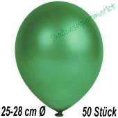 Metallic Luftballons in Dunkelgrün, 25-28 cm, 50 Stück