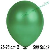 Metallic Luftballons in Dunkelgrün, 25-28 cm, 500 Stück