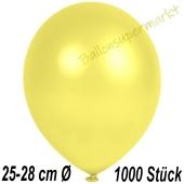 Metallic Luftballons in Gelb, 25-28 cm, 1000 Stück