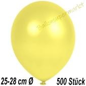 Metallic Luftballons in Gelb, 25-28 cm, 500 Stück