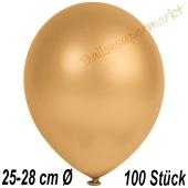 Metallic Luftballons in Gold, 25-28 cm, 100 Stück