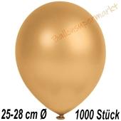 Metallic Luftballons in Gold, 25-28 cm, 1000 Stück