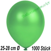 Metallic Luftballons in Grün, 25-28 cm, 1000 Stück