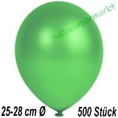 Metallic Luftballons in Grün, 25-28 cm, 500 Stück