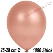 Metallic Luftballons in Rosegold, 25-28 cm, 1000 Stück