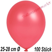 Metallic Luftballons in Rot, 25-28 cm, 100 Stück