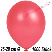 Metallic Luftballons in Rot, 25-28 cm, 1000 Stück