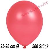 Metallic Luftballons in Rot, 25-28 cm, 500 Stück