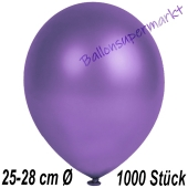 Metallic Luftballons in Violett, 25-28 cm, 1000 Stück