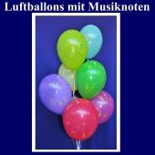 Motiv-Luftballons mit Musiknoten