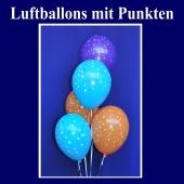 Motiv-Luftballons mit Punkten