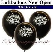Luftballons zur Neueröffnung, New Open, Schwarz