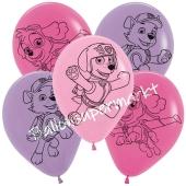 Paw Patrol Pink Luftballons aus Latex, 5 Stück