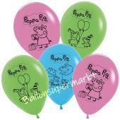Peppa Wutz Luftballons aus Latex, 5 Stück