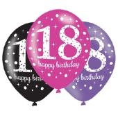 Pink Celebration 18, Luftballons zum 18. Geburtstag