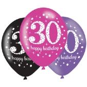 Pink Celebration 30, Luftballons zum 30. Geburtstag