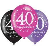 Pink Celebration 40, Luftballons zum 40. Geburtstag