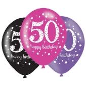 Pink Celebration 50, Luftballons zum 50. Geburtstag