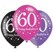 Pink Celebration 60, Luftballons zum 60. Geburtstag