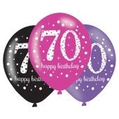 Pink Celebration 70, Luftballons zum 70. Geburtstag
