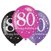 Pink Celebration 80, Luftballons zum 80. Geburtstag