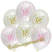 Pink Chic 18, Luftballons zum 18. Geburtstag