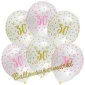 Pink Chic 30, Luftballons zum 30. Geburtstag